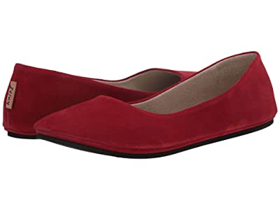 French Sole Sloop (Scarlet Red Suede) Women
