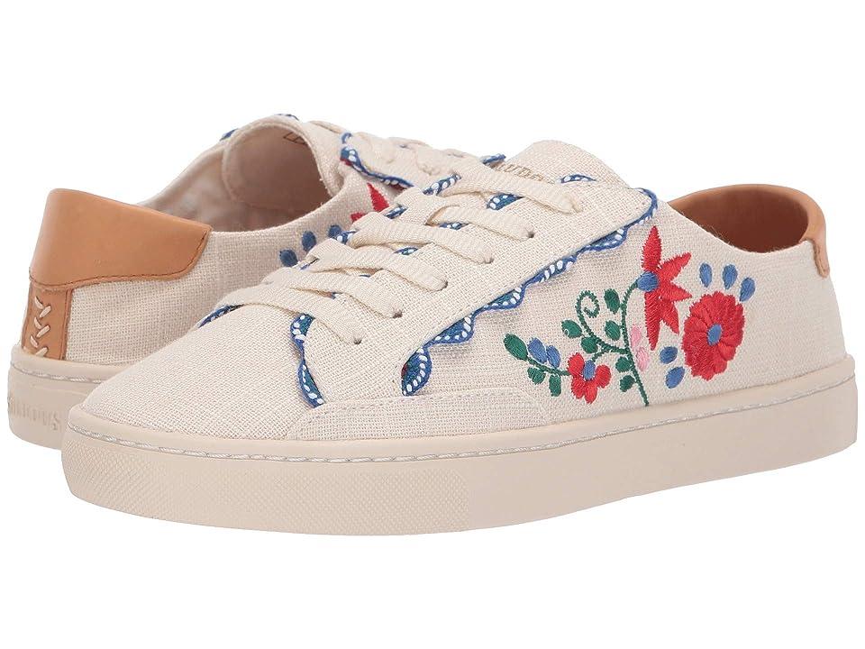 Soludos Ibiza Embroidered Sneaker (Blush) Women