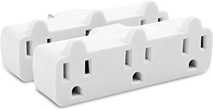 Cable Matters 2-Pack Spaced 3 Outlet Grounded Outlet Extender Wall Tap