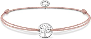 THOMAS SABO Armband Baum der Liebe Beige, aus Nylon und 925 Sterlingsilber, 20cm, LS125-401-19-L20V