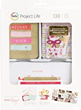Project Life Kit Value Kits-Fine and Dandy-Pink and Gold Glitter (100 Pieces)
