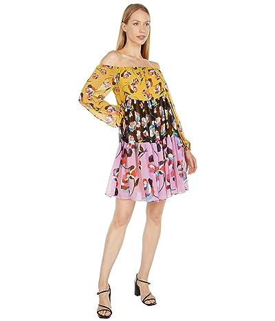 BCBGMAXAZRIA Printed Off-the-Shoulder Dress