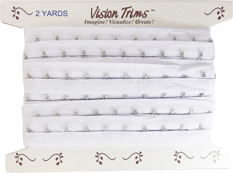 2 Yards Pair Hook and Eye Trim- 0.75