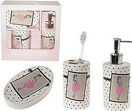 Bosphorus Ceramic Bathroom Set, 3-Piece, Multi-Colour, LY-J115