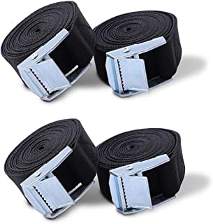 Cargo Lashing Strap For Motorcycle Heavy Dut Tensioning Belts EAST-BIRD 16.4 Foot 4 x 1 Inch Ratchet Tie Down Straps Truck Hold 500lbs Black Red Yellow Blue Trailer