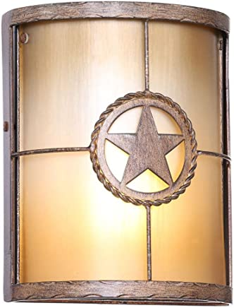 Lone Star 1-light Desert Sandsアウトドア壁マウント取り付け用燭台