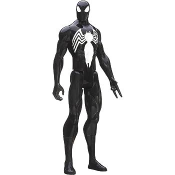 Marvel Ultimate Spider-Man Titan Hero Series Black Suit Spider-Man Figure 12 Inch