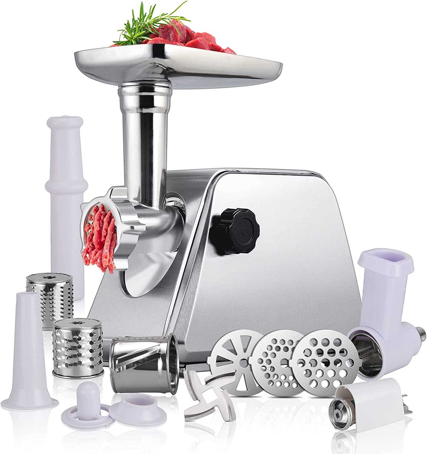 Anbull Multifunctional Electric Meat Grinder - Sausage Stuffer Maker, Tomato Juicer, Slicer, Meat Mincer Machine with Attachments