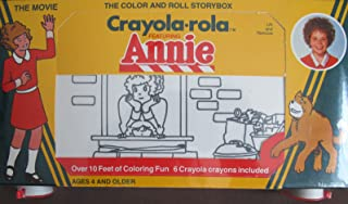 """Crayola-Rola LITTLE ORPHAN ANNIE """"The Movie"""" Color and Roll STORYBOX (1982 Tribune/Columbia)"""