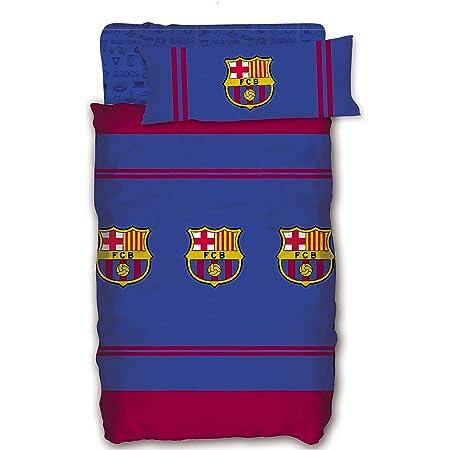 Asditex Juego de Sábanas del Futbol Club Barcelona FCB Temporada 2019-2020, Color Único, 3 Piezas. (90 cm)