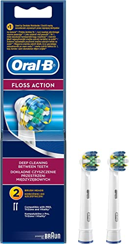 Oral-B FlossAction Replacement Brush Heads 2 Pack