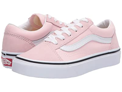 Vans Kids Old Skool (Little Kid) (Blushing/True White) Girls Shoes