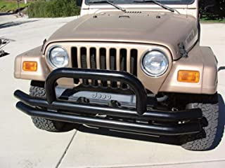 RAMPAGE PRODUCTS 8620 Black Front Tube Bumper with Hoop for 1976-2006 Jeep CJ, Wrangler YJ & TJ