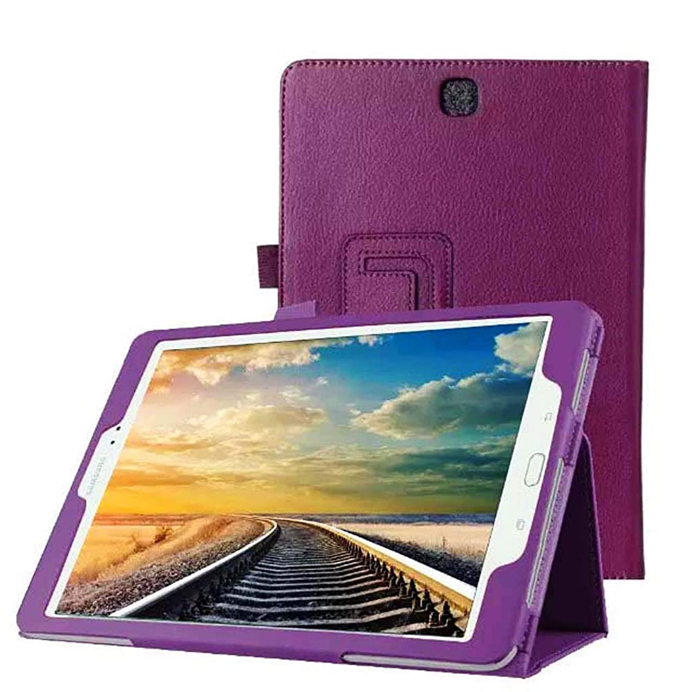 WiTa-Store Cover Case for Samsung Galaxy Tab A SM-T550 T551 T555 9.7 Inch Smart Cover Slim Case Stand Flip (Purple) New