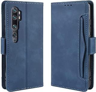 Xiaomi Mi Note 10 ケース 手帳型 Mi Note10 Pro カバー 財布型 Mi CC9 Pro サイトマグネット カードポケット 横置き機能 超高の収納 高級PUレザー 耐衝撃 Xiaomi Mi Note10/Mi Note10 Pro/Mi CC9 Proに対応 ブルー Ayakumo -15fbm-