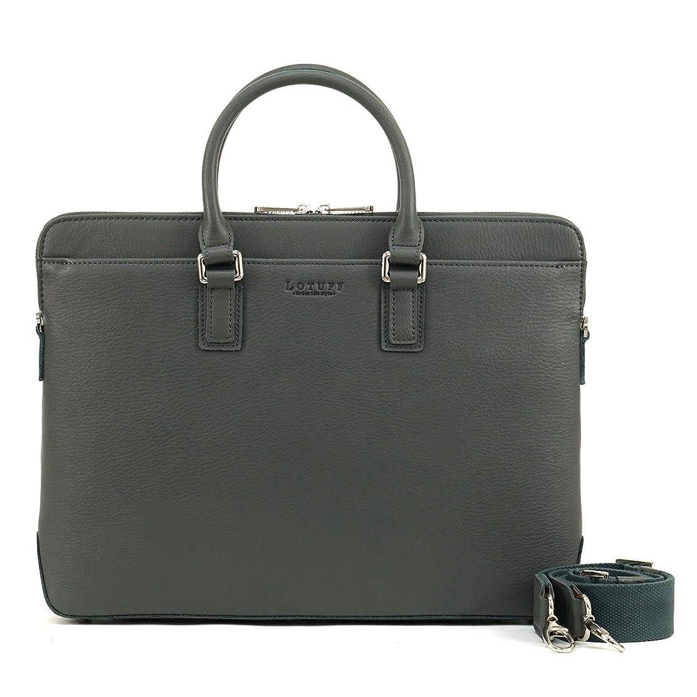 予測する不明瞭利用可能LOTUFF(ロトプ) 牛革 レザー 5 Color ビジネスバッグ a4 ショルダーバッグ 2way ブリーフケース トートバッグ LO-0209 メンズ レディース Leather Tote & Briefcase [並行輸入品]