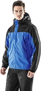TSLA Men's Rainwear Windbreaker Packable Front-Zip Hood Jacket MET/Rain Pants MEB/Jacket & Trouser Suit MES