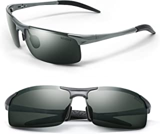 REVOLV POLARIZED MEN'S SUNGLASSES   SPORT WRAP STYLE   ALUMINUM METAL FRAME   PERFECT FOR DRIVING CYCLING RUNNING