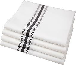 Riegel PRE-1822-EBS Bistro Napkins, 18-Inch by 22-Inch, Black Stripe, Set of 4