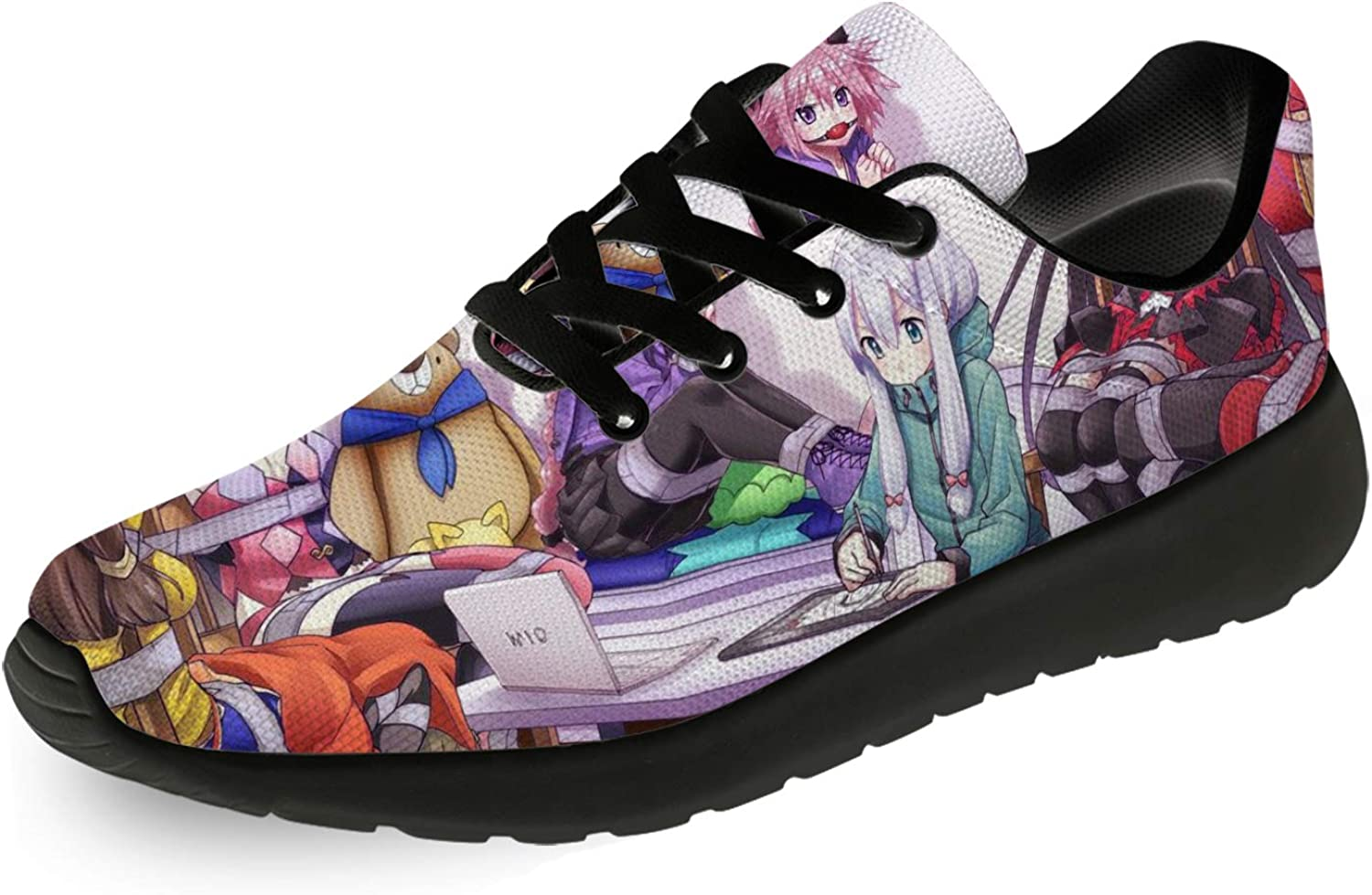 adigow Mens Womens Japanese Anime Casual Print 70% OFF Outlet Lace-up Shoes Fashion 3D