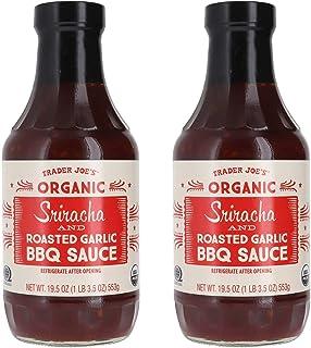 Trader Joe's Organic Sriracha and Roasted Garlic BBQ Sauce Bundle (2 Pack)
