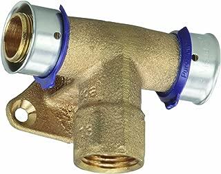 Viega 94739 PureFlow Zero Lead Bronze PEX Press Fire Sprinkler Tee with Female 1-Inch by 1-Inch by 1/2-Inch Press x Press x Female NPT
