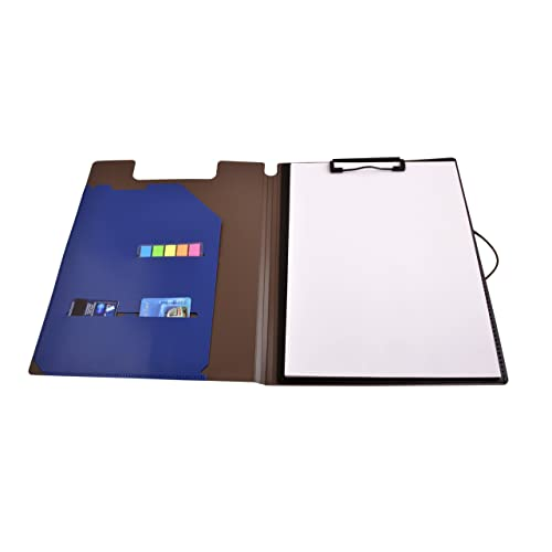 Callas Foldable Clip Board with Inside Pocket (Blue)
