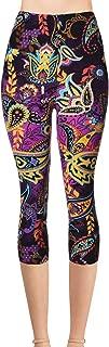 Print Brushed Ultra Soft Cropped Capri Leggings Regular and Plus List 3