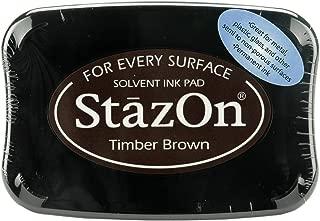 Tsukineko Full-Size StazOn Multi-Surface Inkpad, Timber Brown