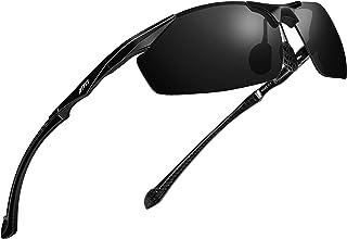 Polarized UV Protection Sports Fishing Driving Sunglasses for Men Al-Mg Metal Frame Ultra Light...