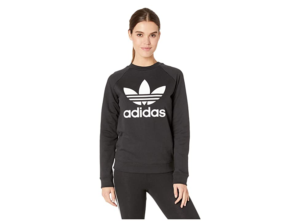 adidas Originals Trefoil Crew Sweatshirt (Black) Women