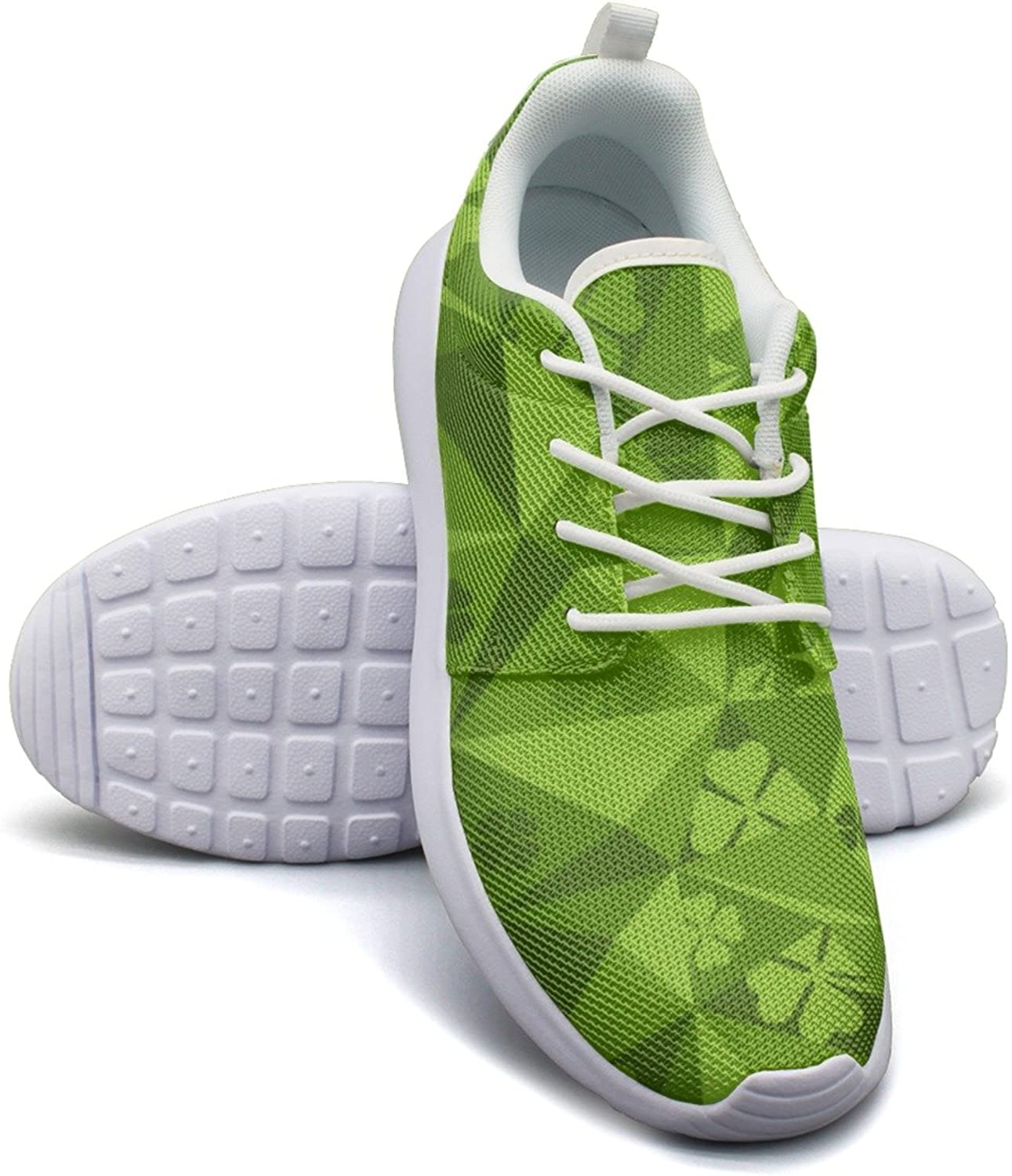 Lucky Shamrock Plant Green Women's Lightweight Mesh Sneakers Climbing Sports shoes