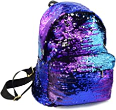 Ibeauti Cute Small Backpack Purse Bling Sequins Backpack School Bags for Teen Girls Women (Blue)