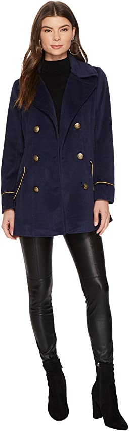 Jack by BB Dakota - Carina Military Coat with Contrast Piping