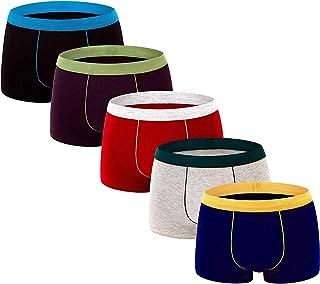 Aserlin Men's Underwear Boxer Briefs 5 Pack Cotton No Ride-up Sport Underwear