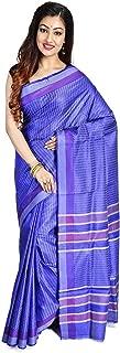 SareesofBengal Women's Tussar/Kosa/Tassar Silk Saree With Allover Weaved Work