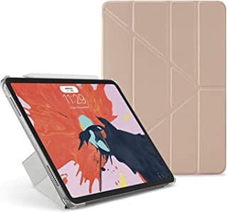 "Pipetto Origami iPad Case Pro 11"" (2018) with 5 in 1 Stand & auto Sleep/Wake Function Rose Gold/Clear"