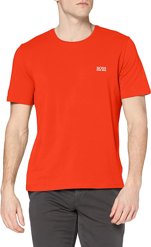Hugo boss mix&match t-shirt, maglietta per uomo a maniche corte, 95% cotone, 5% elastan, rossa 50381904I