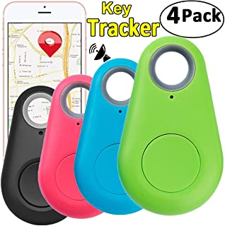 GBD Smart Key Finder Locator for Kids Boys Girls Pets Key Wallet Car Dog Cat Child Bag Phone Alarm Anti Lost Tracker Selfie Shutter Wireless Seeker Easter Holiday Birthday Gifts 5 Pack