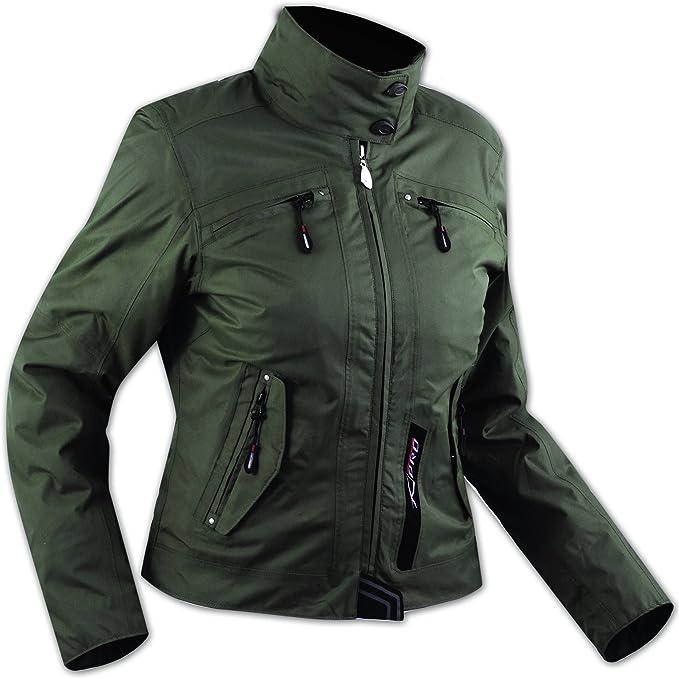 Damen Textil Wasserdicht Ce Ruestung Thermofutter Jacke Motorrad Schwarz Xl Auto