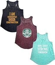 Tough Cookie's Women's Active Wear Burnout Tank Top 3 Pack Deal #4