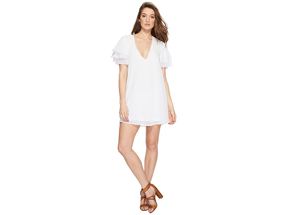 Show Me Your Mumu Disick Dress (White Chiffon) Women