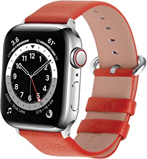 Fullmosa Compatible Apple Watch Band 38mm 40mm 41mm 42mm 44mm 45mm Calf Leather Compatible iWatch Band/Strap Compatible Ap...