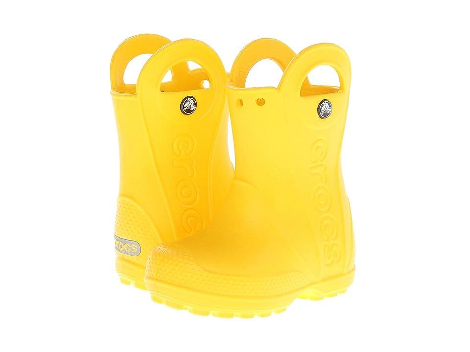 Crocs Kids Handle It Rain Boot (Toddler/Little Kid) (Yellow) Kids Shoes
