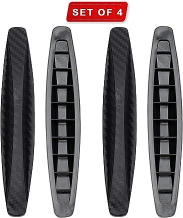 Exmart Rubber Car Bumper Protector Guard for All Cars-4Pcs (Black)
