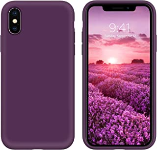 GUAGUA Compatible for iPhone Xs Max Case Liquid Silicone Soft Gel Rubber Slim Thin Microfiber Lining Cushion Texture Cover...