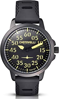 Chotovelli Aviator Men's Watch Analog Display Sandwich Dial Black Army Strap 33.02