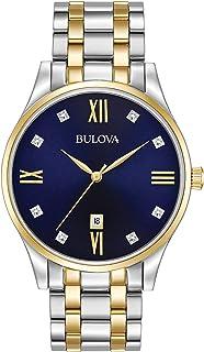 Men's Quartz Stainless Steel Dress Watch, Color: Two Tone (Model: 98D130)