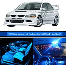 SCITOO 9Pcs Ice Blue Interior LED Light Package Kit Replacement Bulbs Fits for Mitsubishi lancer 2002-2007