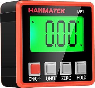 HANMATEK デジタル角度計 デジタル傾斜計 デジタルレベル 水平器 レベラーマグネット付き自動電源オフ4x90°LCDバックライト付き 強力磁石付き 4 x 90° 防水 小型 角度計 傾斜計 1年保証